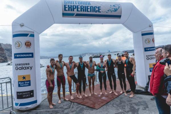 Δυναμικό παρών της Εθνικής Ομάδας Κολύμβησης Ανοιχτής Θαλάσσης @ Santorini Experience by Mike Tsolis